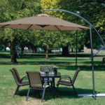 10 Feet Cantilever Freestanding Patio Umbrella for Your Garden or Backyard