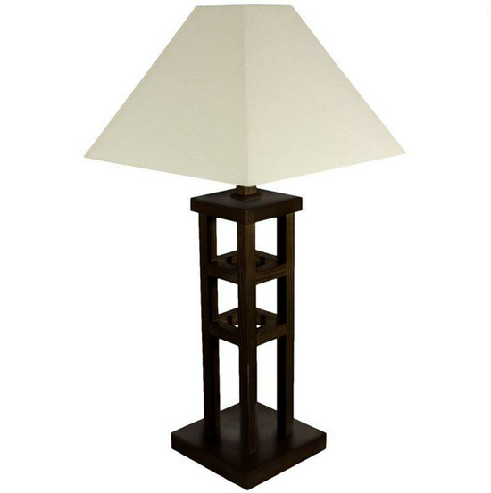 ... The 27 Inches Wood Architectural Design Table Lamp | Modern Home Decor