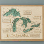 Artistic 3D Wooden Lake Topography Art Is a Great Wall Decor for a Lake House