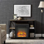 Rustic Style 40-Inch X-Frame Electric Fireplace Becomes An Inviting Element in Your Living Room