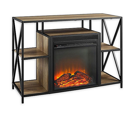 40-Inch X-Frame Electric Fireplace