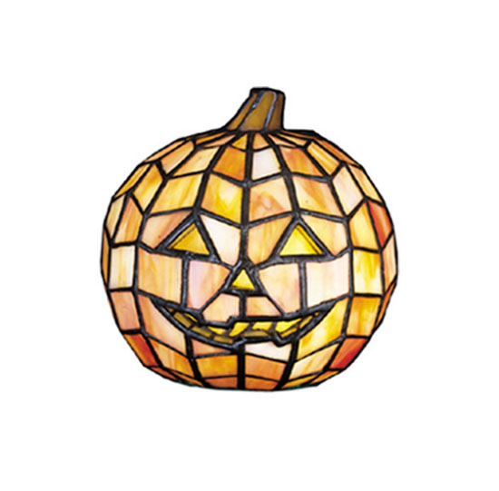 7-inches Jack O Lantern Tiffany Glass Accent Lamp