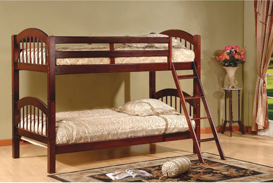 B125C Wood Arched Design Convertible Bunk Bed