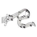 Bring Music Into Your Home With The Abstract Musical Notes Piano Jazz Wall Artwork Art