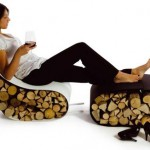 Stylish Firewood Holders From Ak47 Design