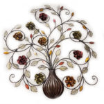 Alcott Hill Flowers Metal Wall Décor Features Scrolling Vine-Inspired Decor