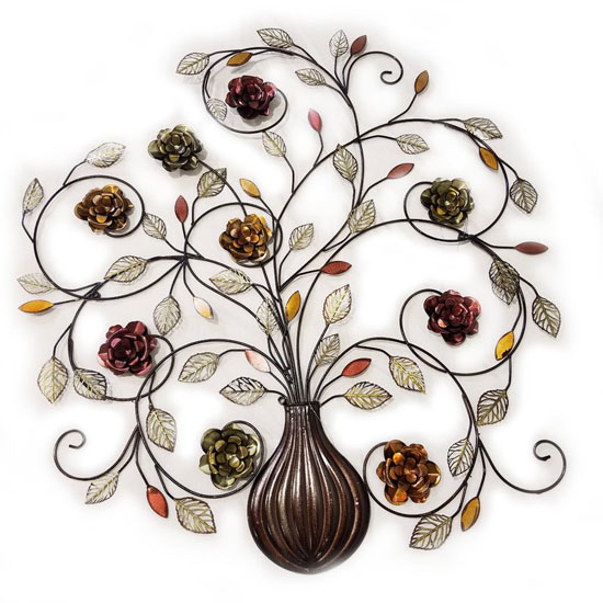 Alcott Hill Flowers Metal Wall Decor