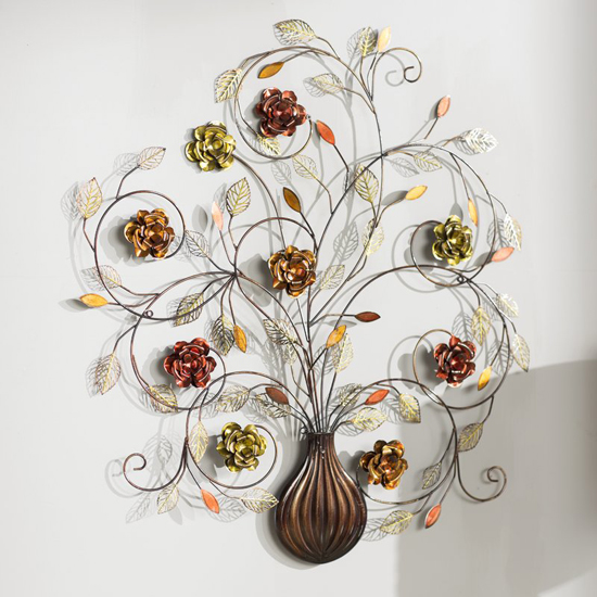 Alcott Hill Flowers Metal Wall D3cor