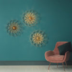 Sustainably Resourced Arame Wall Light Looks Like a Flower on Your Wall