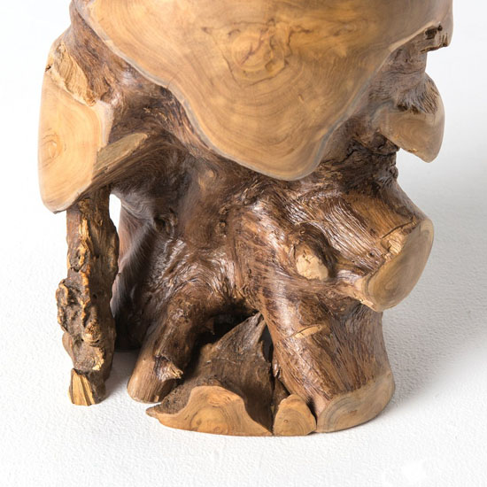 Artistic Natural Teak Stool for Nature Touch in Decor