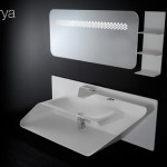 Arya Faucet and Sink, Simple Design in White Color Yet Fashioinable
