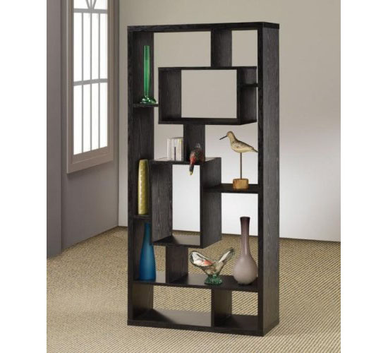 ... Decor And Shelf In One With An Asymmetrical Cube Bookcase With Shelves