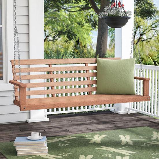 August Grove Rosean Porch Swing