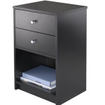 Winsome Ava Accent Table With Two Drawer Accentuates Your Room While Doing Its Job