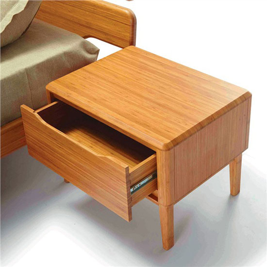 Bamboo Mid-century Modern Nightstand
