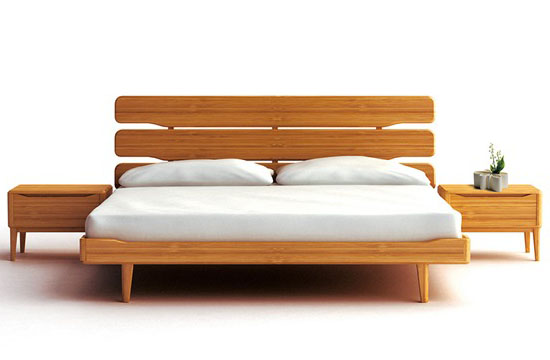 Cool Bamboo Mid century Modern Nightstand