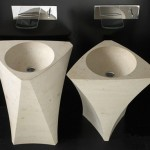 Unique Shape Washbasin from Natural Stone by Bandini