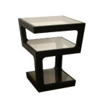 Add Style And Elegance To Your Home With Baxton Studio Clara Black Modern Tall 3-Tiered End Table