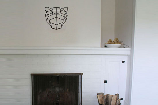 Bend Mama Bear Geometric Trophy Head