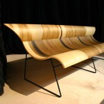 Artistic Chair From Bent Plywood Furnishings by Susan Woods
