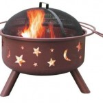 Big Sky Stars And Moons Fire Pit For Outdoor Cooking And Landscape Design