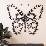 Black 3D Butterfly Wall Art : No More Boring Wall!