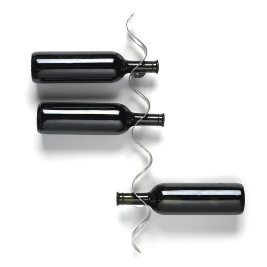 Black Blum Wall Mounted Wine Rack