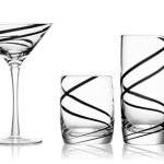 Elegant Black Swirl Glass or Crescendo for Cocktail Hour or Crescendo for Nice Gift