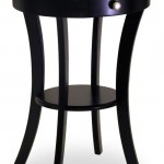 The Black Winsome Wood Round Table With Drawer And Shelf Will Complete Your Collection Of Elegant Home Furniture Pieces