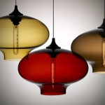 Pendant Ceiling Glass Blown Lamp from Nichemodern