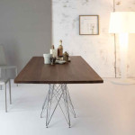 Bonaldo OCTA Table Features Metal Rod Legs by Bartoli Design