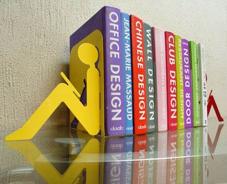 Bookstop Holds Your Book With Fun Modern Home Decor