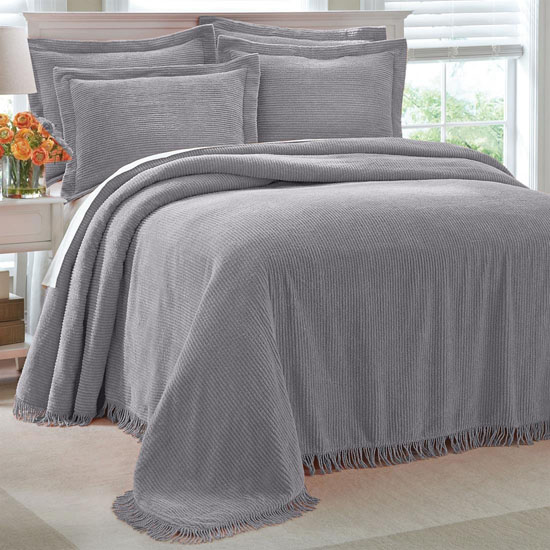 Brylanehome Cotton Chenille Bedspread. Soft and Luxurious Brylanehome Cotton Chenille Bedspread