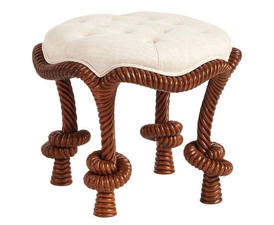 Bunny Williams Rope Twist Stool