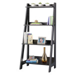 BUSH FURNITURE Alamosa Ladder Bookcase with 4 Fixed Shelves
