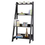 BUSH FURNITURE Alamosa Ladder Bookcase with 4 Fixed Shelves