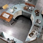 The Milea is Cool Circular Kitchen from Carma Cucine