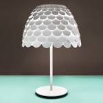 Carmen Table Lamp: A Stylish Lamp With Shell-like Shade