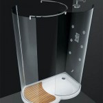 Walk-In Eclisse Moon Shaped Shower by Cesana