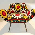 Bokja Chair in Vintage Middle Eastern Fabrics for Al Sabah Art and Design Collection