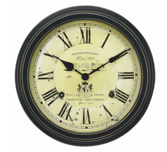 Chaney Instruments Vintage Port Wine Wall Clock