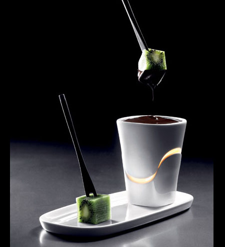 chocolate fondue cup set