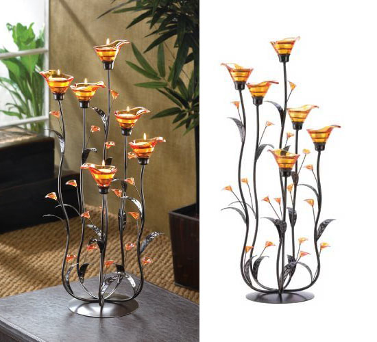 Top 20 Christmas Gift Ideas for Modern Homes - Amber Calla Lilly Candleholder