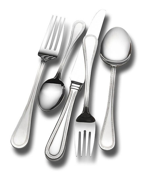 Top 20 Christmas Gift Ideas for Modern Homes - Wallace Continental Bead 18/0 78-Piece Flatware Set