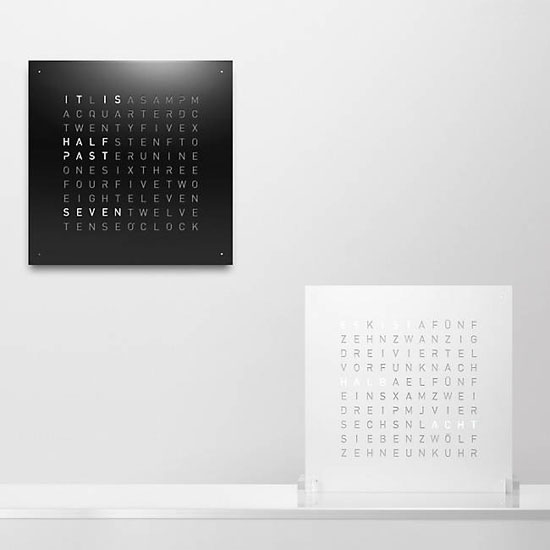 Top 20 Christmas Gift Ideas for Modern Homes - QLOCKTWO Wall Clock By Biegert and Funk