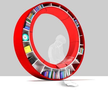 Wheel of Knowledge Bookshelf