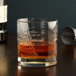 City Map Glass – Enjoy A Glass of Bourbon or Whiskey While Reminiscing about Your Hometown