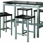 Enjoy Elegant Dining At Home With Coaster 5-Piece Metal Dining Set with 4 Barstools