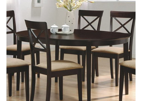 Coaster Contemporary Oval Dining Table