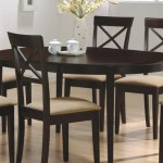 Enjoy Elegant Dining With The Coaster Contemporary Oval Dining Table